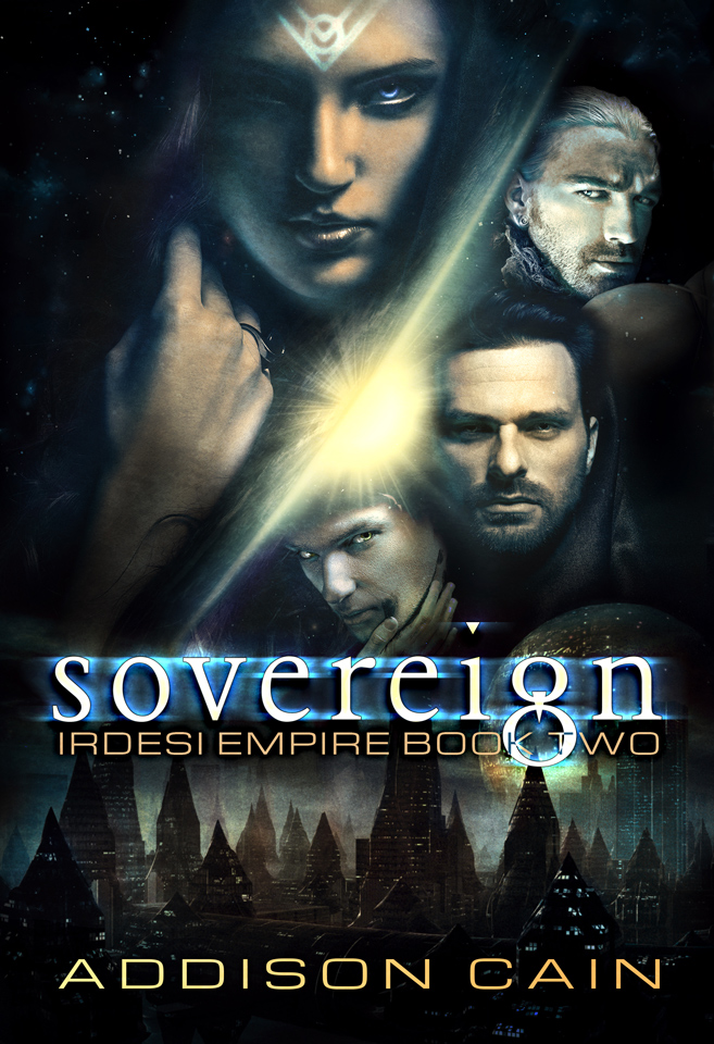 Irdesi Empire Book 2: Sovereign by Addison Cain. first edition cover